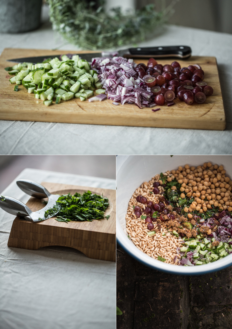 Puffed Brown Rice And Grape Salad - Cook Republic
