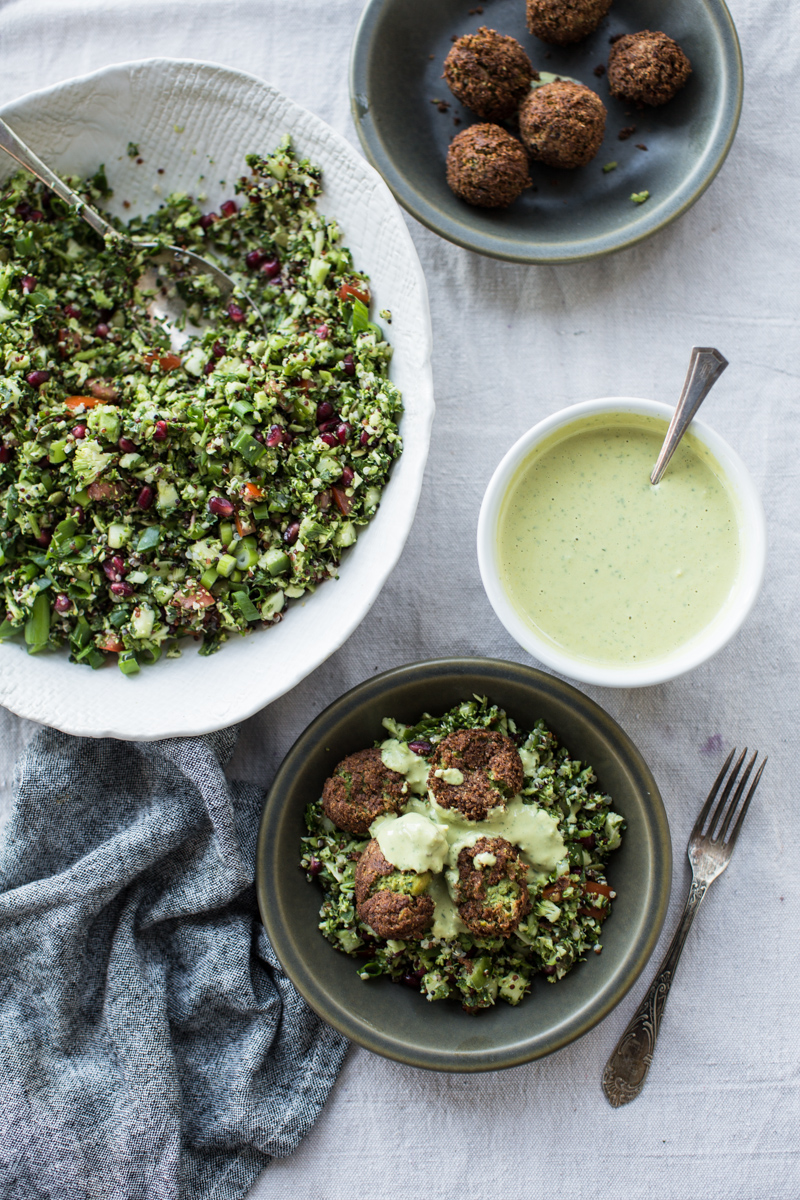 Super Green Falafel With Turmeric Tahini Sauce - Cook Republic