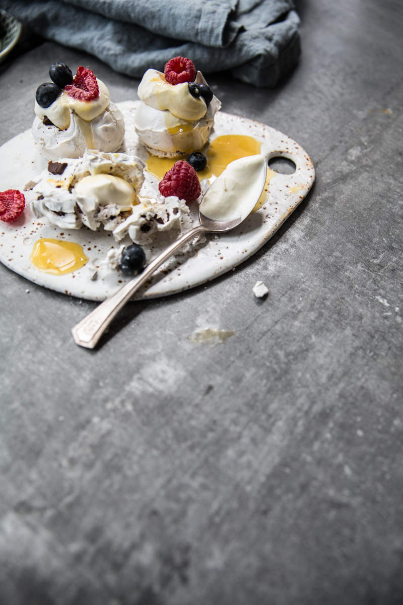 Meringue Stacks With Mascarpone, Lemon Curd & Berries - Cook Republic/ photo, Sneh Roy