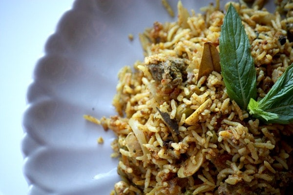 The Pilaf style rice dish is a hotpot of flavours and textures.