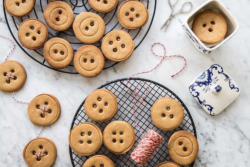 Gingerbread Buttons - Cook Republic