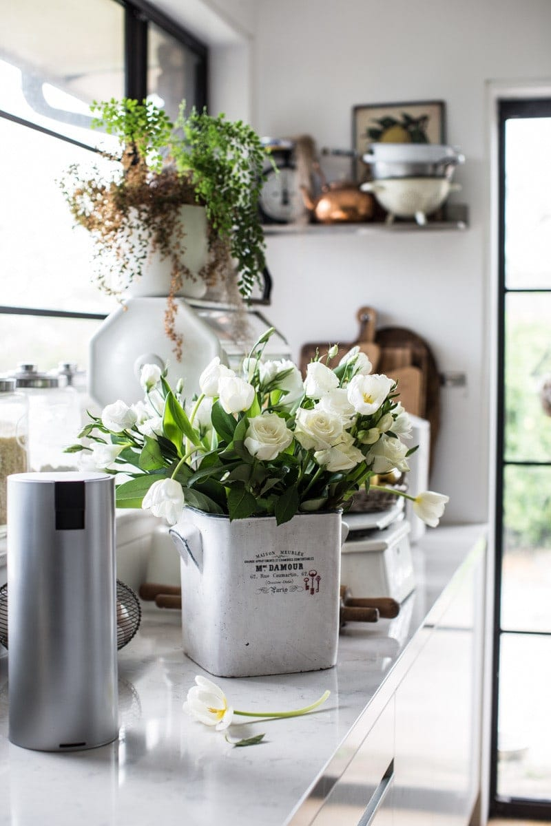 Blooms And White Kitchen - Cook Republic