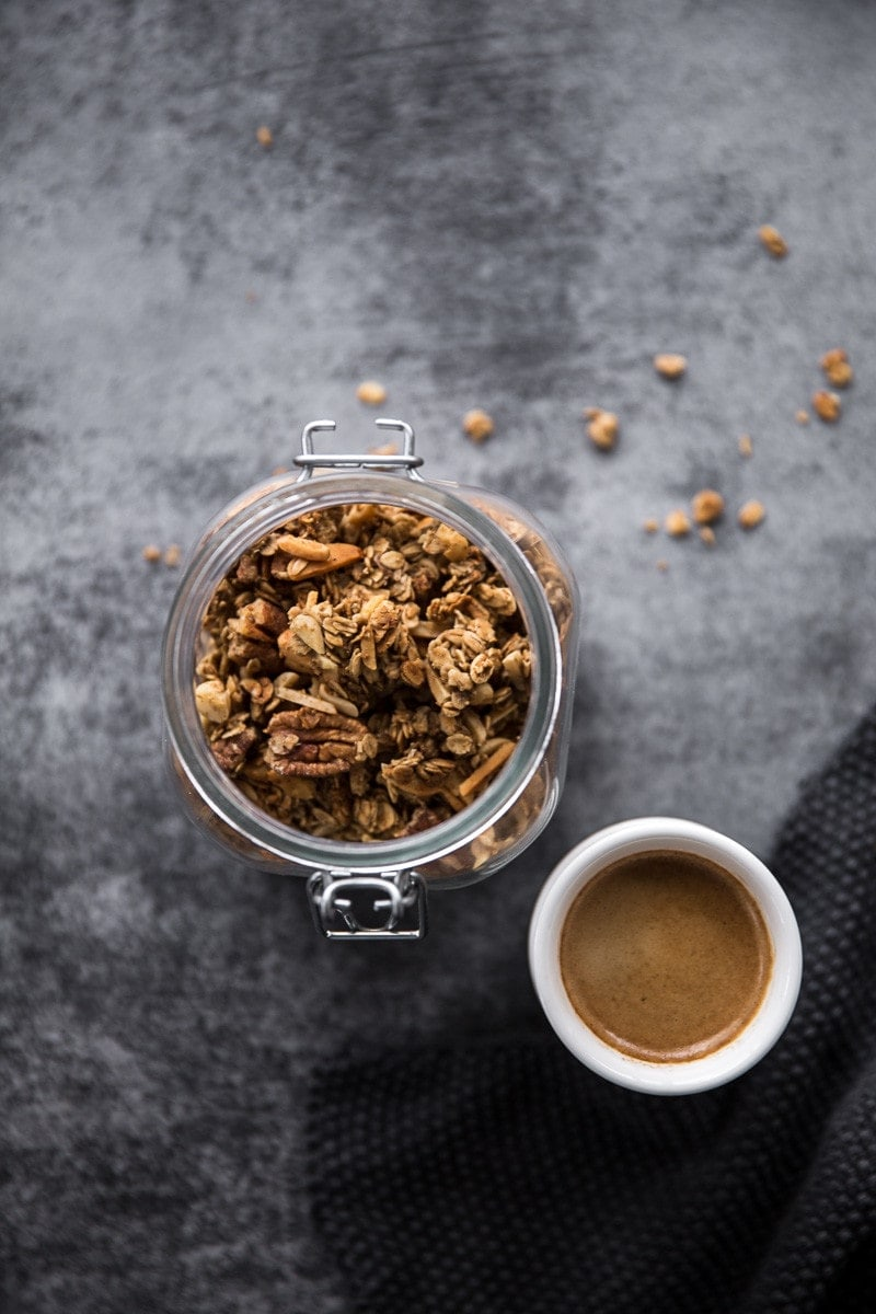 Coffee Gingerbread Granola - Cook Republic