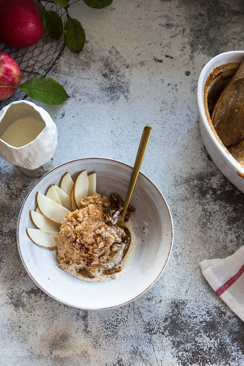 Slow Cooked Apple Tart Overnight Oats - Cook Republic