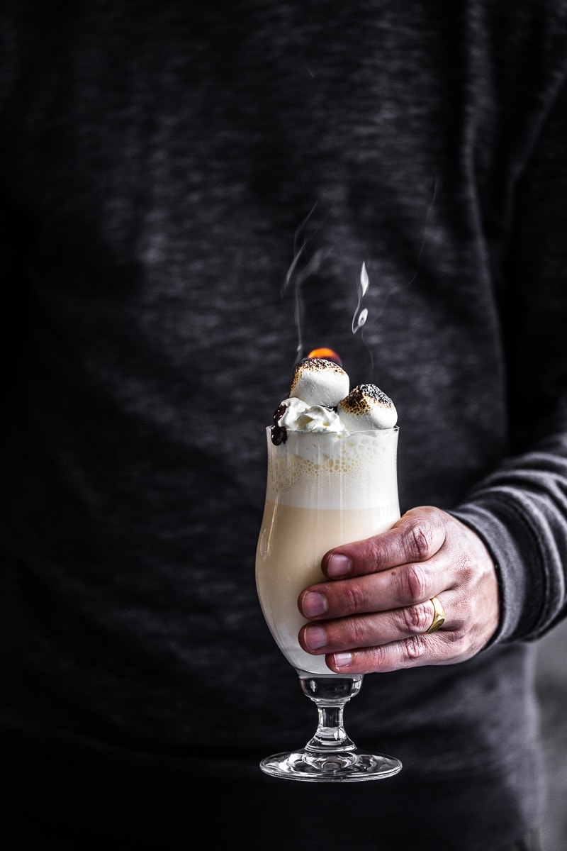 Baileys Winter Cocktail Shake With Hot Chocolate Fudge Sauce - Cook Republic