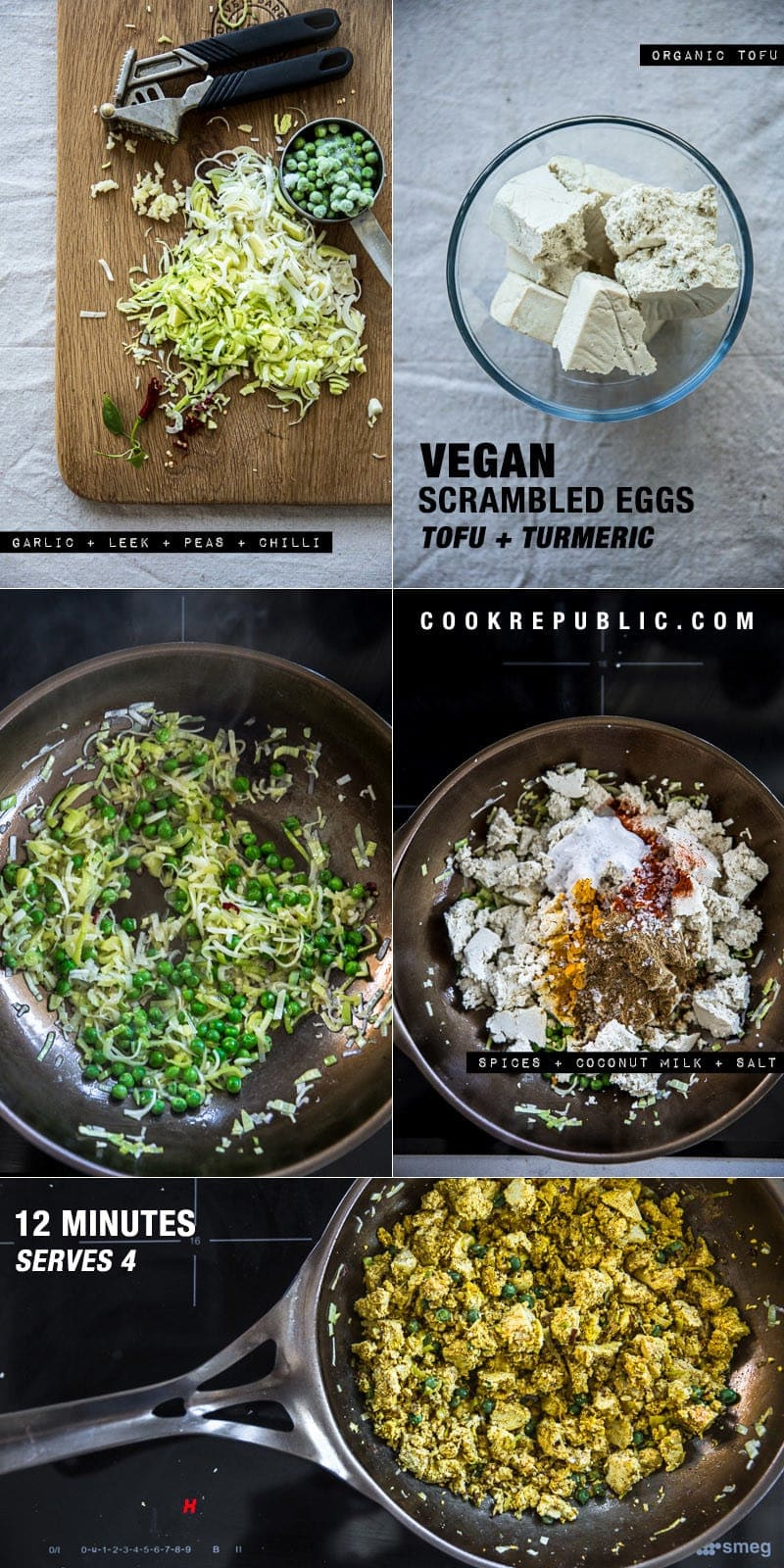 Vegan Scrambled Spice Eggs - Cook Republic