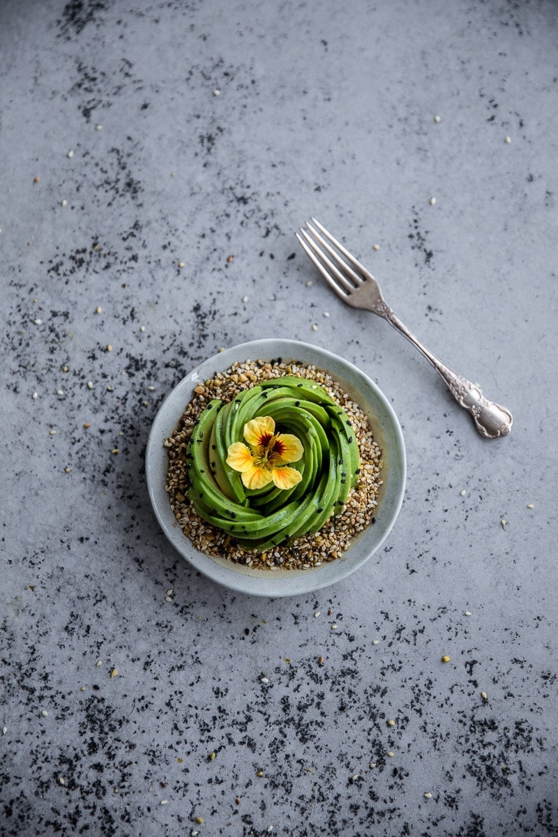 Avocado Rose And Pistachio Dukkah Bowl - Cook Republic