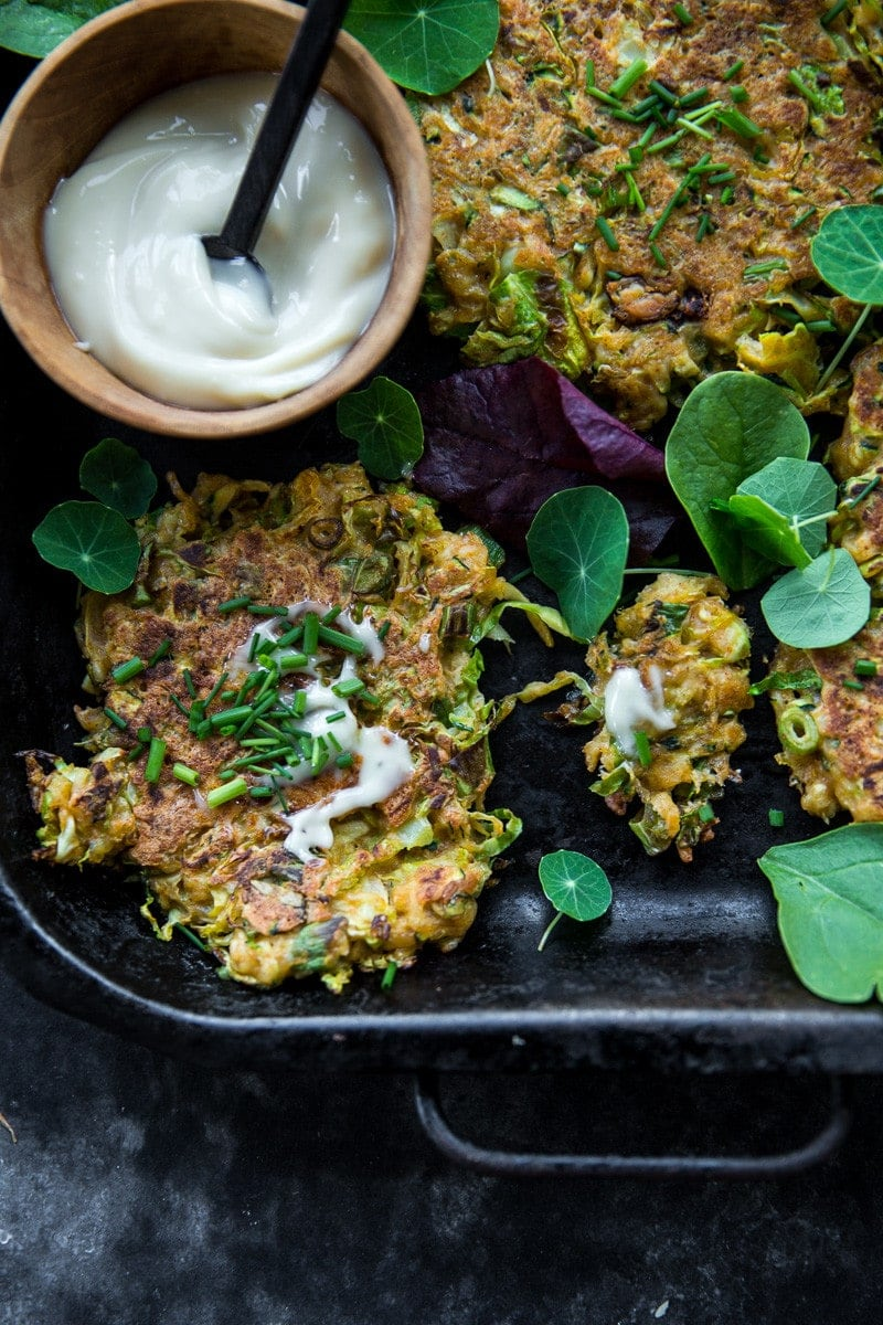 Brussels Sprouts And Zucchini Fritters - Cook Republic