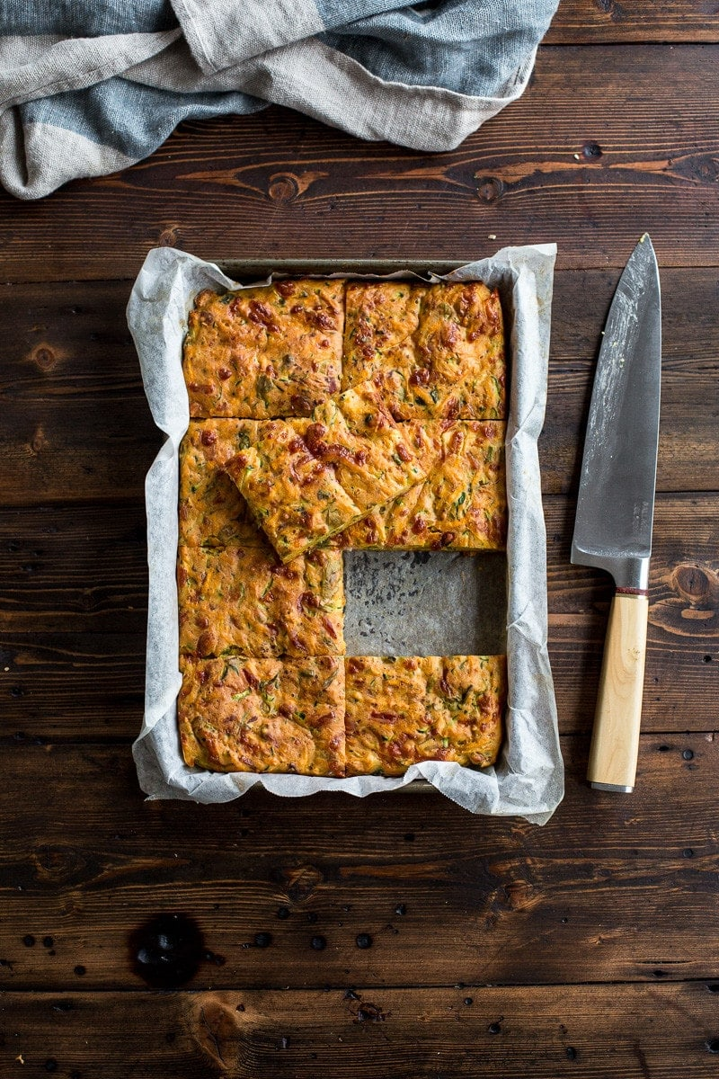 Zucchine And Sweet Potato Slice - Cook Republic
