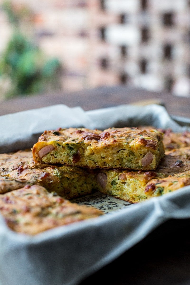 Zucchini And Sweet Potato Slice - Cook Republic