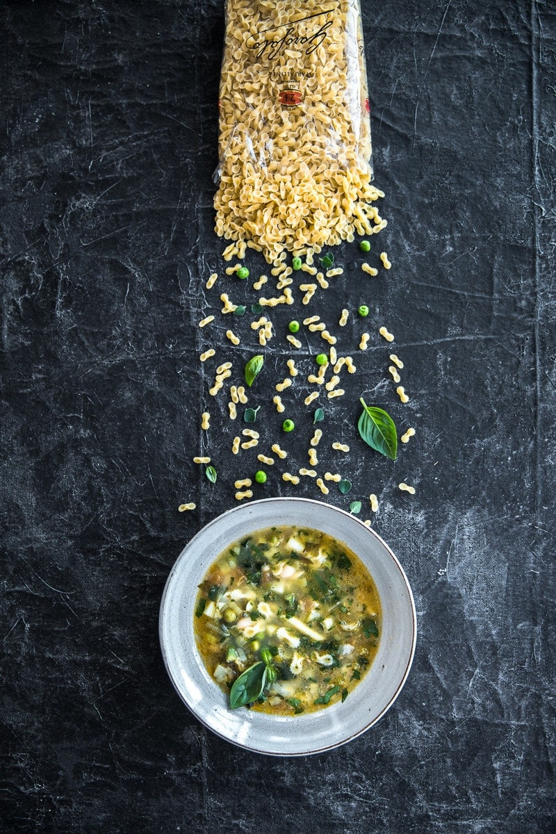 Green Minestrone Soup - Cook Republic #vegan #dinnerideas #pasta