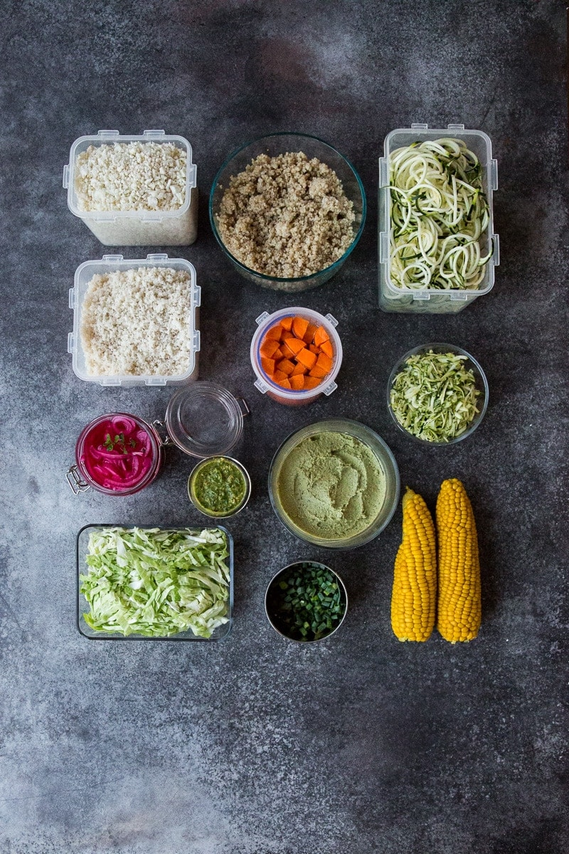 Basic Meal Prep For Weekly Vegetarian Meals - Cook Republic #mealprep #vegan #glutenfree #healthy