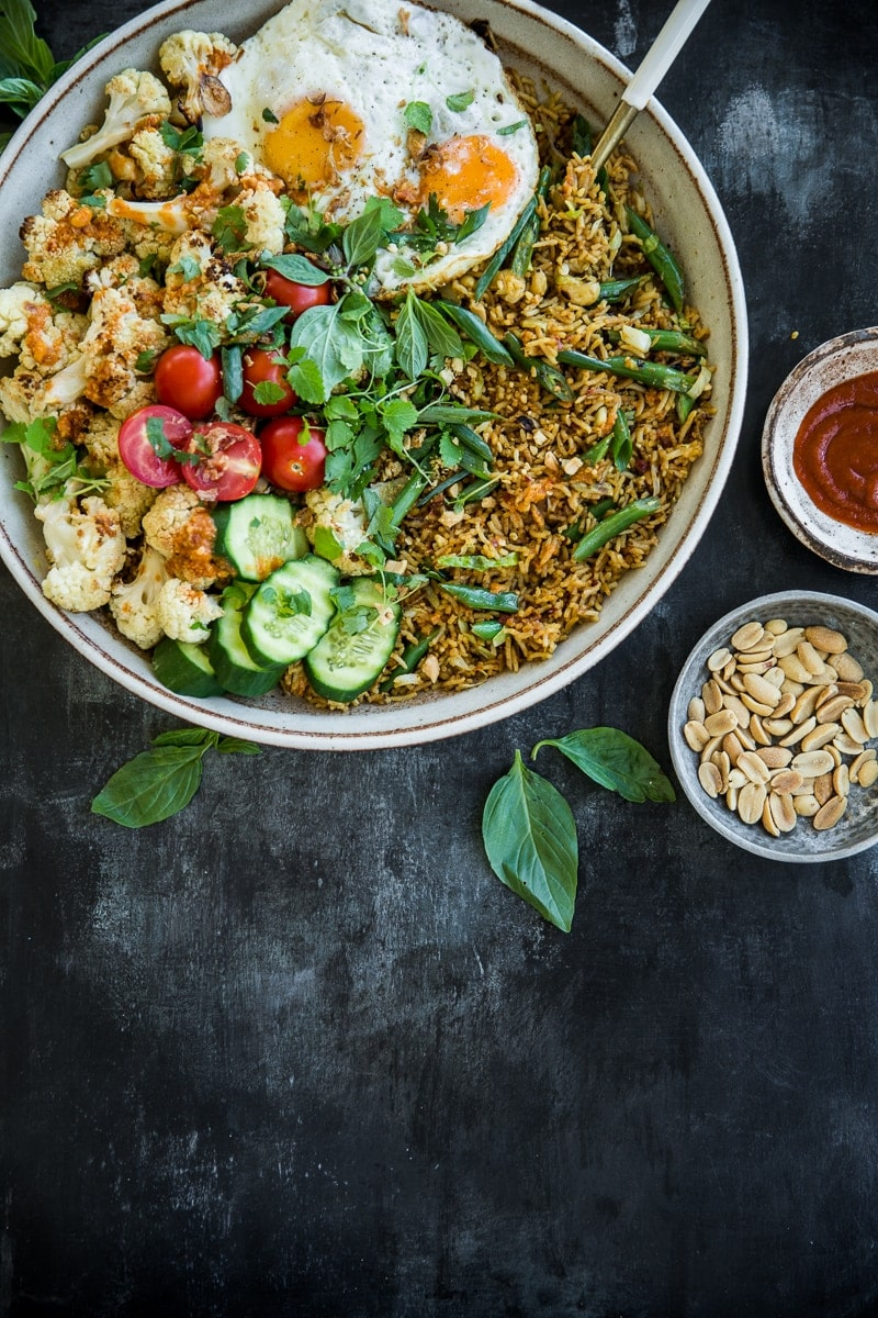 Roasted Cauliflower Nasi Goreng - Cook Republic #glutenfree #vegetarian