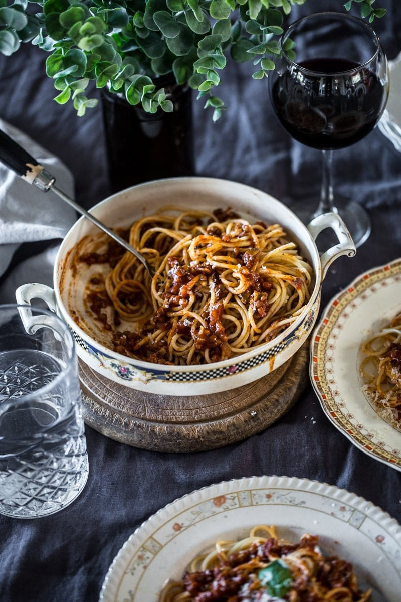 Mushroom And Lentil Vegan Bolognese - Cook Republic #vegan #recipe #healthy #foodphotography