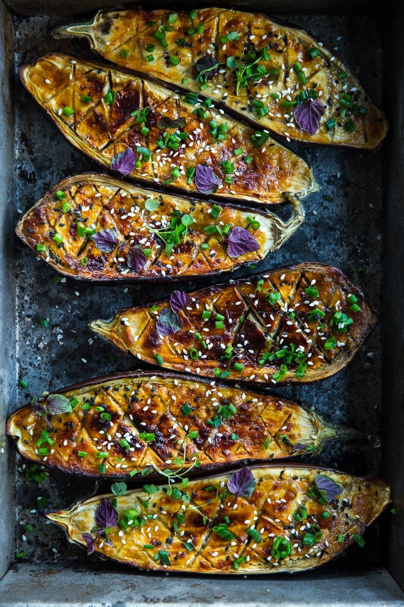 Vegan Miso Glazed Eggplant - Cook Republic #vegan #glutenfree #healthyrecipe #foodphotography