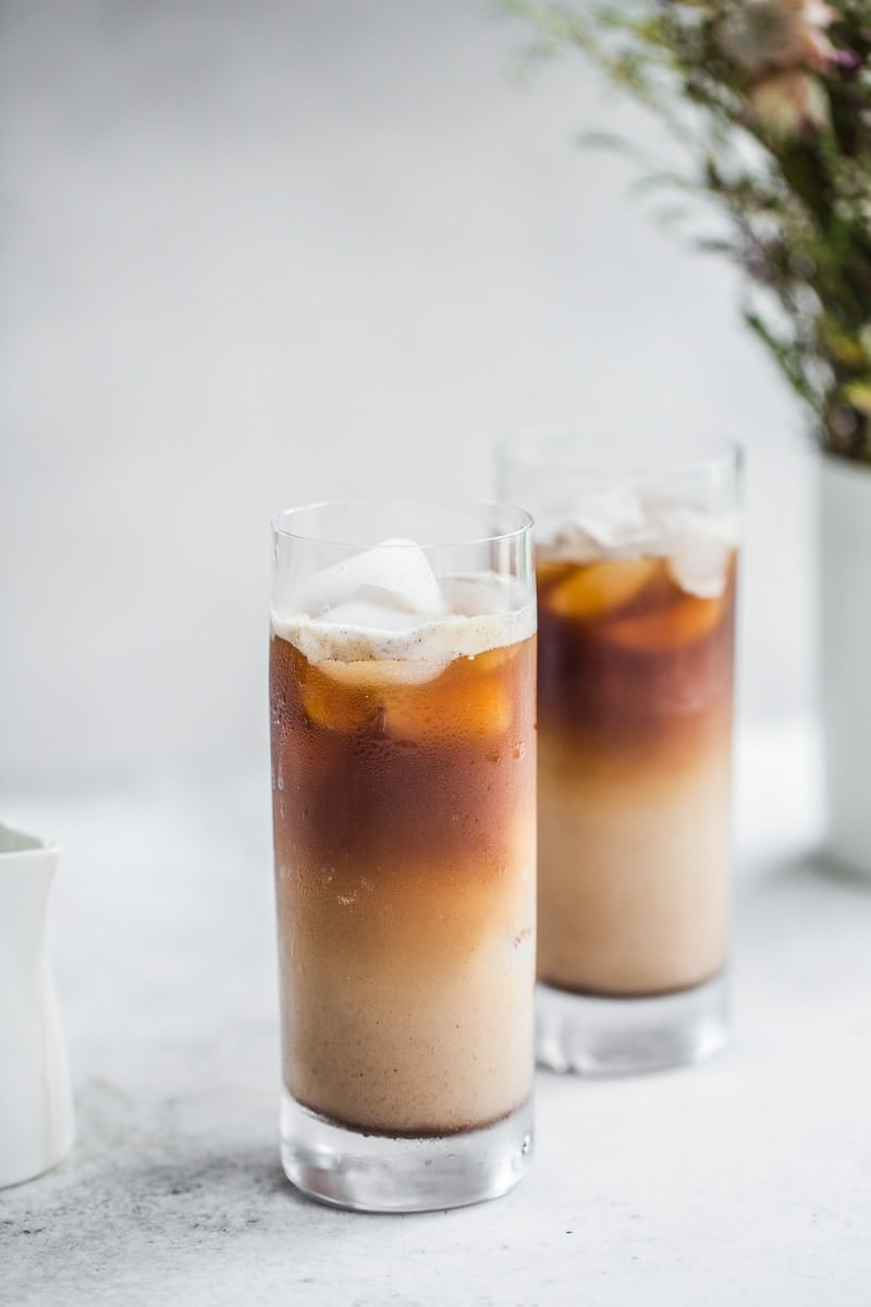 Vegan Iced Spice Coconut Latte - Cook Republic #vegan #coffee #glutenfree #drink #foodphotography