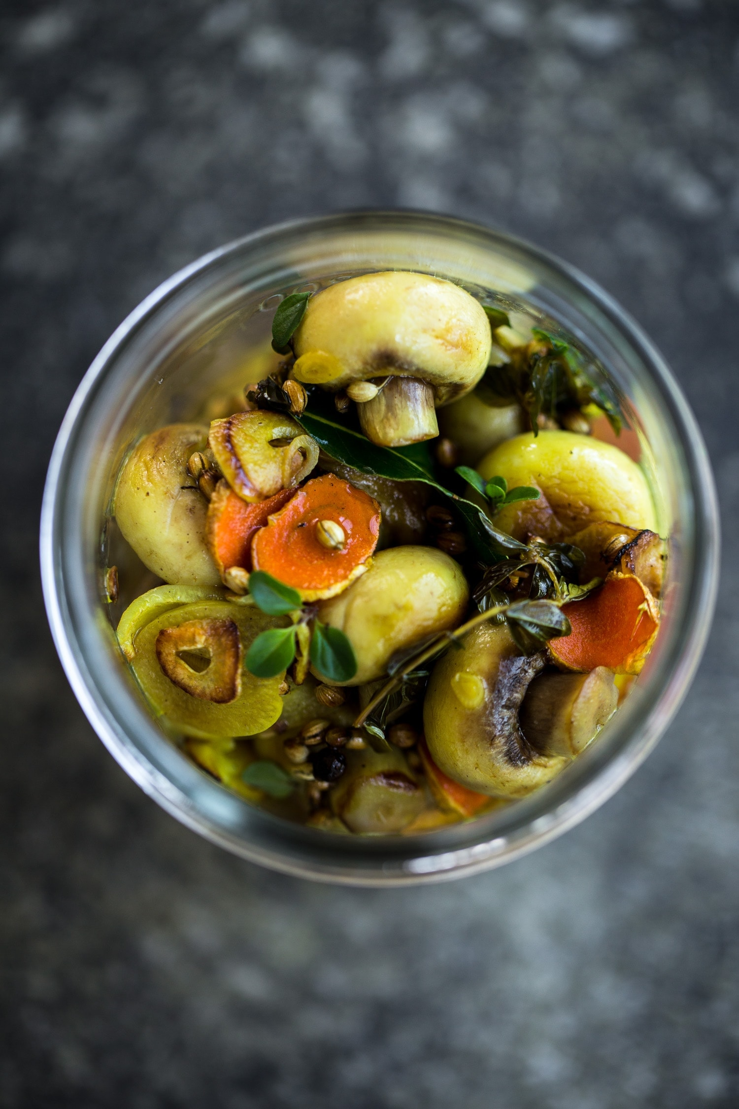 Turmeric Mushroom Pickle - Cook Republic #vegan #glutenfree #healthyrecipe #foodphotography