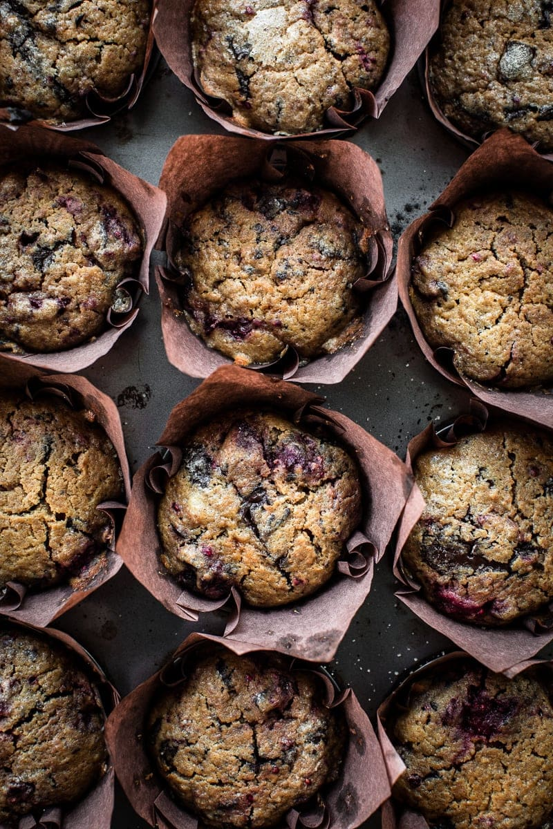 Bourke Street Bakery Dark Chocolate And Raspberry Muffins - Cook Republic #vegetarian #bakingrecipes #foodphotography