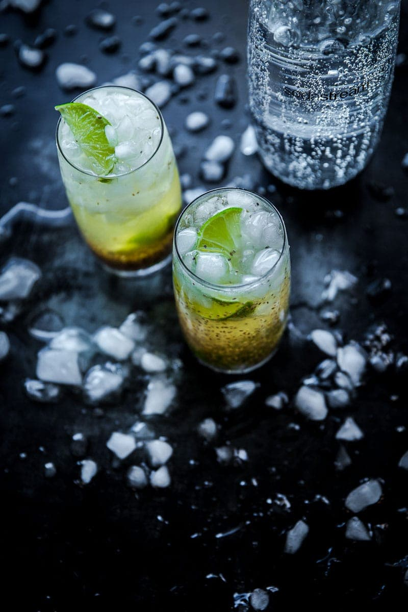 Sparkling Chia Refresher - Cook Republic / photo, Sneh Roy #sodastream #vegan #mocktail