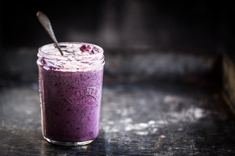 素食黑莓正大布丁 - 库克共和国#vegan #healthyrWilliam Hill娱乐ecipe #chiapudding