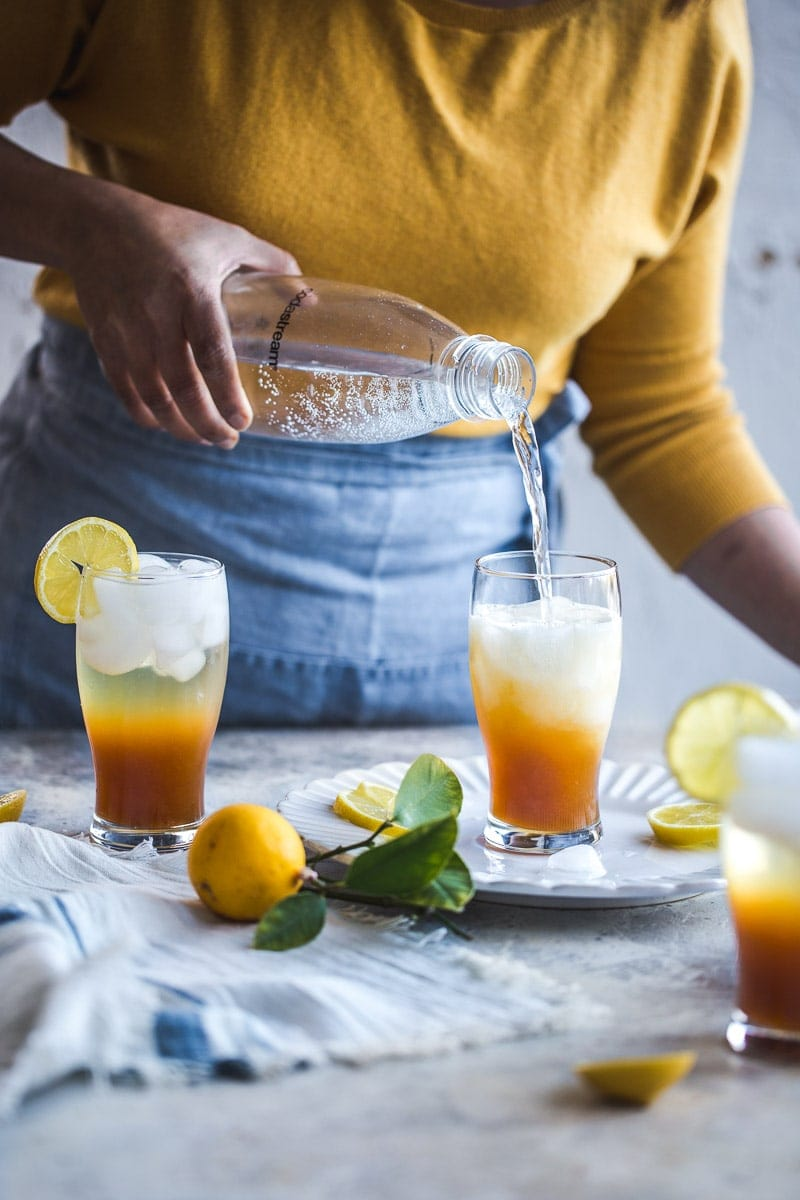 Sparkling Iced Lemon Tea - Cook Republic #sodastream #homemade #easyrecipe #vegan #foodphotography