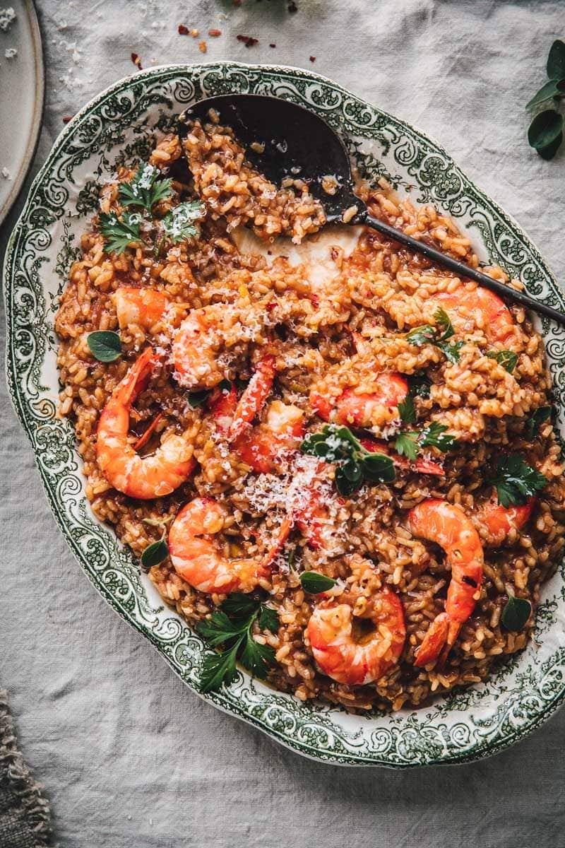 Chilli Garlic Prawn Risotto In Napoli Sauce - Cook Republic #glutenfree #italianrecipe #foodphotography