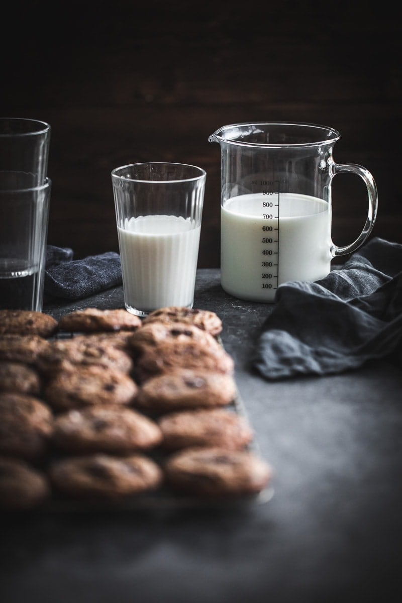Salted Chocolate Chip Spelt Cookies - Cook Republic #baking #cookies #foodphotography
