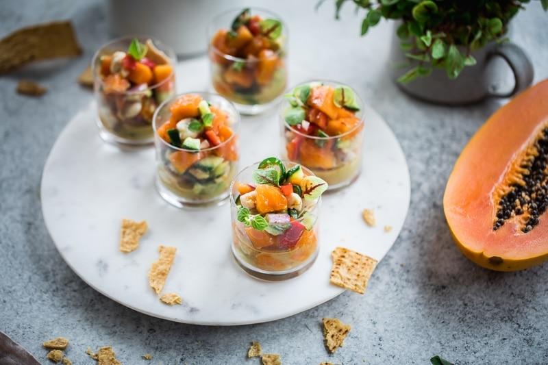 酸橘汁腌鱼番木瓜杯-煮共和#无谷蛋白#海鲜#番木瓜#美食摄影William Hill娱乐