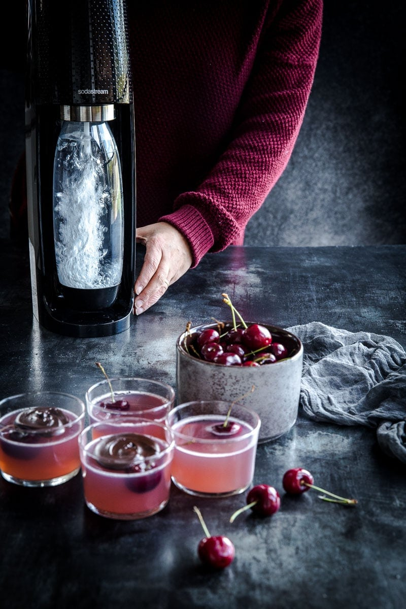 Sparkling Cherry Jelly - Cook Republic #sodastream #christmas #foodphotography