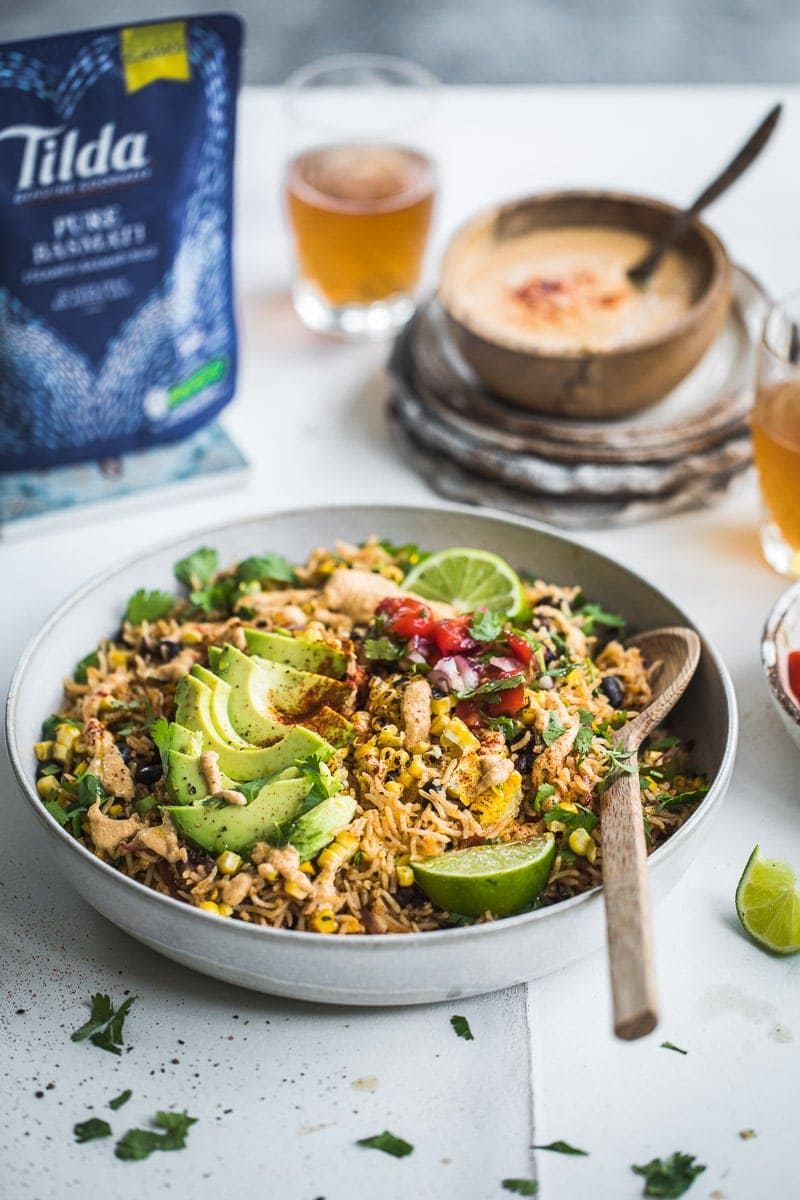 Warm Vegan Taco Rice Salad - Cook Republic #vegan #glutenfree #taco #foodphotography