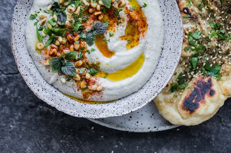 Homemade Baba Ghanoush And Lebanese Flatbread - Cook Republic #yeastbread #babaganoush #flatbread