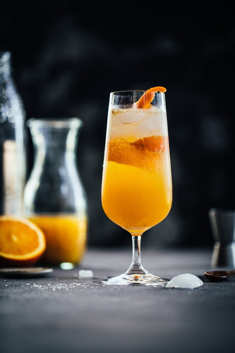 Homemade Fire Cider Tonic And Bubbly Mocktail - Cook Republic #firecider #immunityrecipe foodphotography