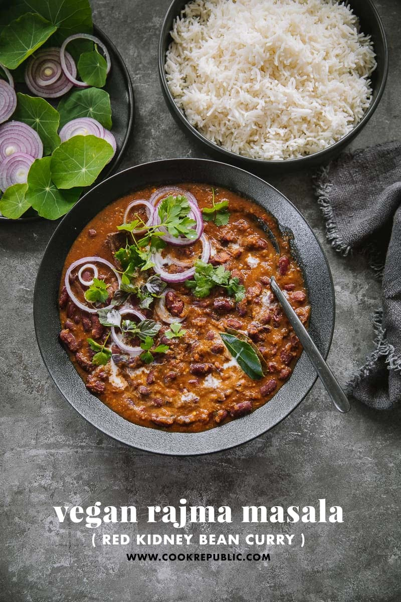Vegan Rajma Masala (Red Kidney Bean Curry) - Cook Republic