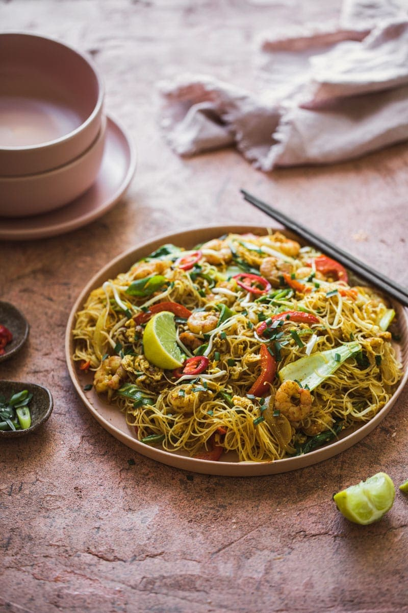 Just Prawn Singapore Noodles - Cook Republic #glutenfree #noodlerecipe