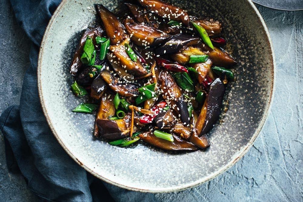 素食主义者中国辣椒茄子 - 库克共和国#vegandinner William Hill娱乐#ggplant #chineserecipe