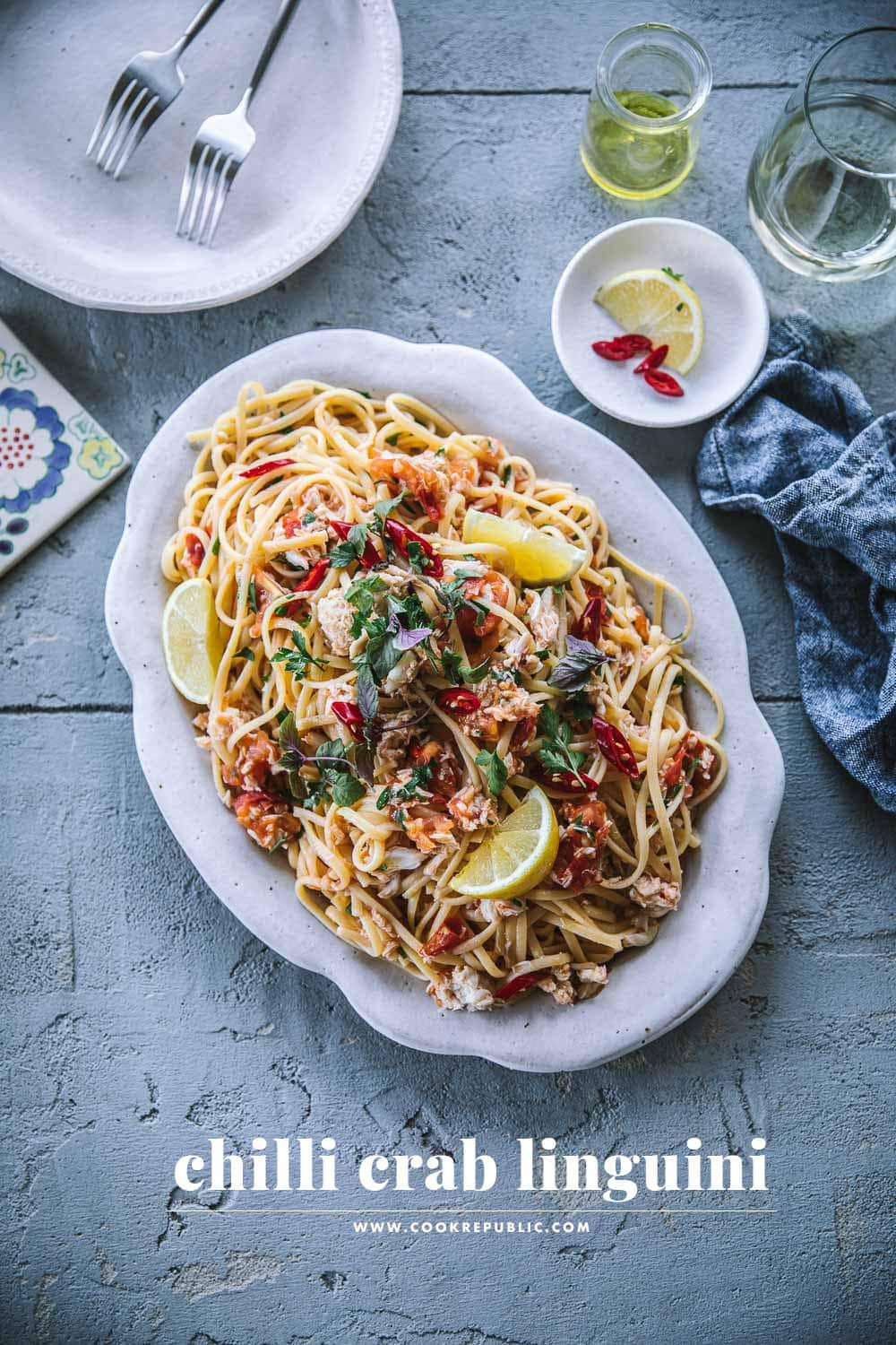 Chilli Crab Linguini - Cook Republic #crabpasta #seafoodpasta
