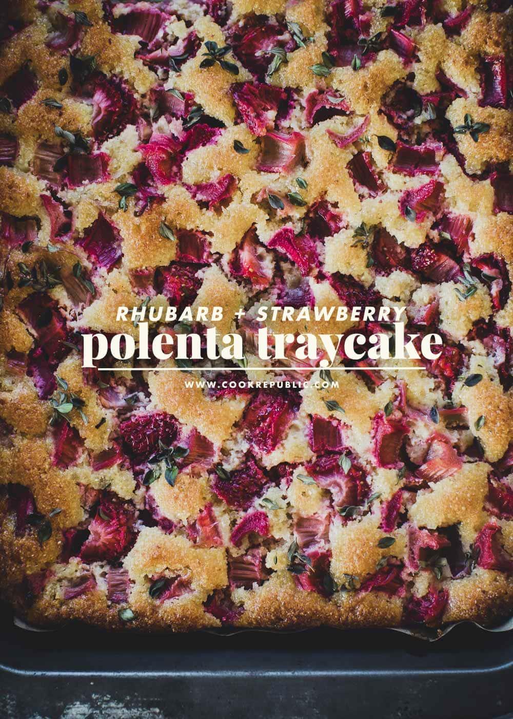 大黄草莓玉米粥托盘蛋糕-库克共和国#无麸质蛋糕William Hill娱乐